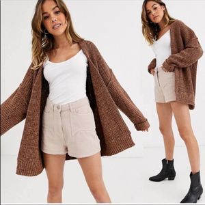Free People Chunky Soft Open Cardigan Sweater NEW